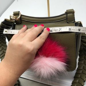 Anthropologie Bags - Anthropologie Jules Kae Green Zoey Bag Pom Pom